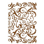 Making Memories - Shimmer Chipboard Flourishes - Brown, CLEARANCE
