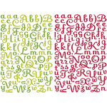 Making Memories - Mistletoe Collection - Christmas - Glitter Alphabet Stickers , CLEARANCE