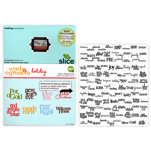 Making Memories - Slice Design Card - Holidays - Words and Expressions