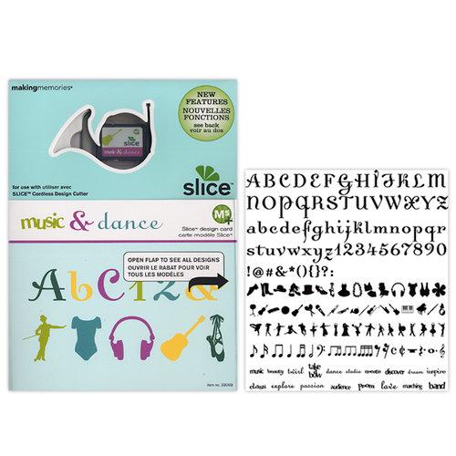 Making Memories - Slice Design Card - Dance and Music