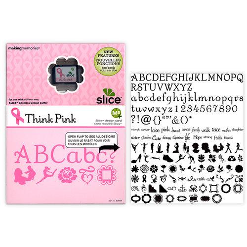 Making Memories - Slice Design Card - Think Pink