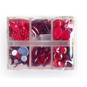 Making Memories - Gem Collection Box - Red, CLEARANCE