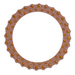 Making Memories - Glitter Bling Collection - Self Adhesive Round Frame - Brown, CLEARANCE