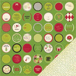 Making Memories - Mistletoe Collection - Christmas - 12 x 12 Double Sided Paper - Icon Dot, BRAND NEW