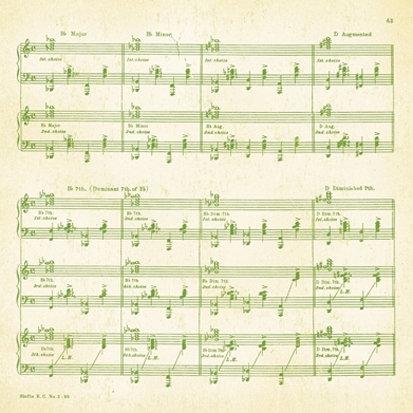 Making Memories - Mistletoe Collection - Christmas - 12 x 12 Glitter Paper - Music Note , BRAND NEW