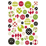 Making Memories - Mistletoe Collection - Christmas - Chipboard Buttons , CLEARANCE
