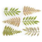 Making Memories - Mistletoe Collection - Christmas - Glittered Leaves , BRAND NEW