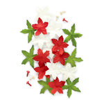 Making Memories - Mistletoe Collection - Christmas - Poinsettia Blossoms, BRAND NEW