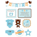 Making Memories - Design Shop Collection - 3 Dimensional Stickers - Baby Boy, CLEARANCE