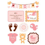 Making Memories - Design Shop Collection - 3 Dimensional Stickers - Baby Girl, CLEARANCE