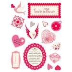 Making Memories - Design Shop Collection - 3 Dimensional Stickers - Love, CLEARANCE