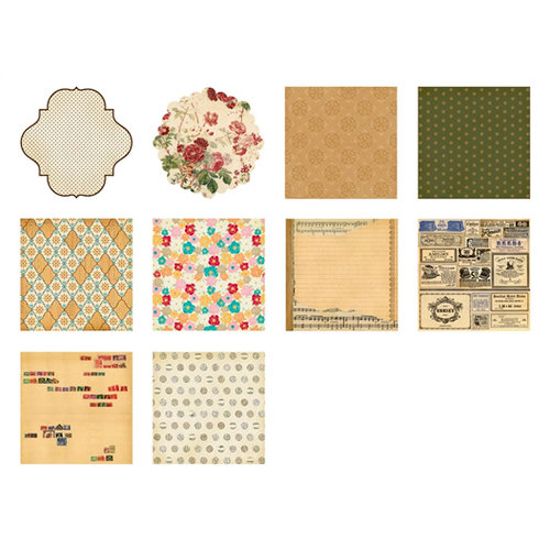 Making Memories - Vintage Findings Collection - 8 x 8 Paper Pad