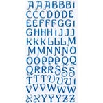 Making Memories - Glitter Bling Collection - Jeweled Alphabet Stickers - Dark Blue, CLEARANCE