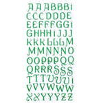 Making Memories - Glitter Bling Collection - Jeweled Alphabet Stickers - Dark Green, CLEARANCE