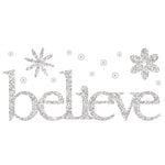 Making Memories - Glitter Bling Collection - Self Adhesive Words - Believe, CLEARANCE