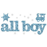 Making Memories - Glitter Bling Collection - Self Adhesive Words - All Boy, CLEARANCE