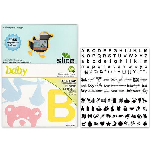 Making Memories - Slice Design Card - Baby