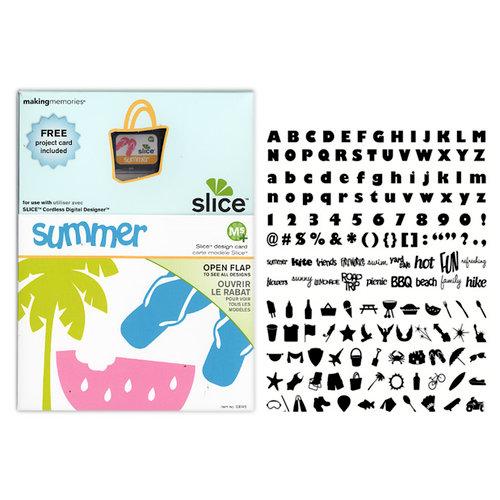 Making Memories - Slice Design Card - Summer