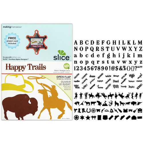 Making Memories - Slice Design Card - Happy Trails
