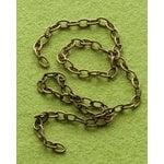 Making Memories - Vintage Groove Collection - Jewelry Hardware - Chain Extensions - Antique Brass