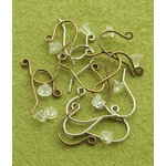 Making Memories - Vintage Groove Collection - Jewelry Hardware - Wire Earrings