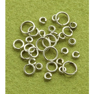 Making Memories - Vintage Groove Collection - Jewelry Hardware - Jump Rings - Silver