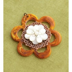 Making Memories - Vintage Groove Collection - Jewelry Pendant - Bead Flower