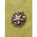 Making Memories - Vintage Groove Collection - Jewelry Pendant - Floral Applique