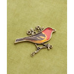 Making Memories - Vintage Groove Collection - Jewelry Pendant - Signature Finch