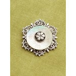 Making Memories - Vintage Groove Collection - Jewelry Pendant - Etched Button