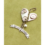 Making Memories - Vintage Groove Collection - Jewelry Pendant - 3 Wishes Heart
