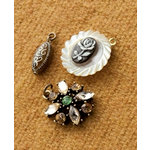 Making Memories - Vintage Groove Collection - Jewelry Designer Combinations - Celluloid Flower