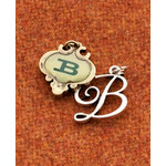 Making Memories - Vintage Groove Collection - Jewelry Alphabet Charms - Letter B