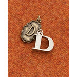 Making Memories - Vintage Groove Collection - Jewelry Alphabet Charms - Letter D