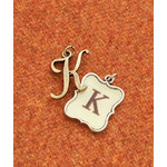 Making Memories - Vintage Groove Collection - Jewelry Alphabet Charms - Letter K