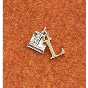 Making Memories - Vintage Groove Collection - Jewelry Alphabet Charms - Letter L