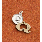 Making Memories - Vintage Groove Collection - Jewelry Alphabet Charms - Letter Q