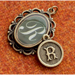 Making Memories - Vintage Groove Collection - Jewelry Alphabet Charms - Letter R