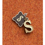 Making Memories - Vintage Groove Collection - Jewelry Alphabet Charms - Letter S