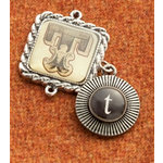 Making Memories - Vintage Groove Collection - Jewelry Alphabet Charms - Letter T
