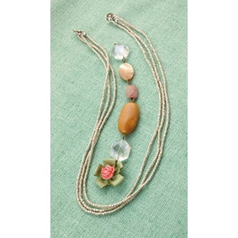 Making Memories - Vintage Groove Collection - Jewelry Strand Combinations - Silver Seed Bead