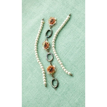 Making Memories - Vintage Groove Collection - Jewelry Strand Combinations - Abalone and Pearl