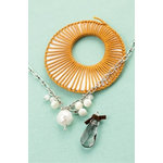 Making Memories - Vintage Groove Collection - Jewelry Kit - Shell and Pearl Drop