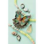 Making Memories - Vintage Groove Collection - Jewelry Kit - Butterfly and Abalone Drop