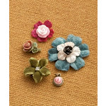 Making Memories - Vintage Groove Collection - Jewelry Designer Combinations - Textile Flowers