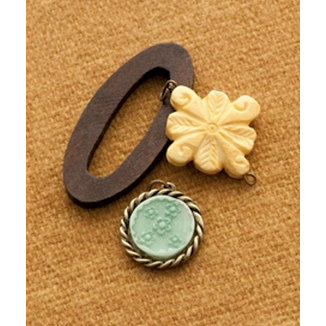 Making Memories - Vintage Groove Collection - Jewelry Designer Combinations - Wood Hoop