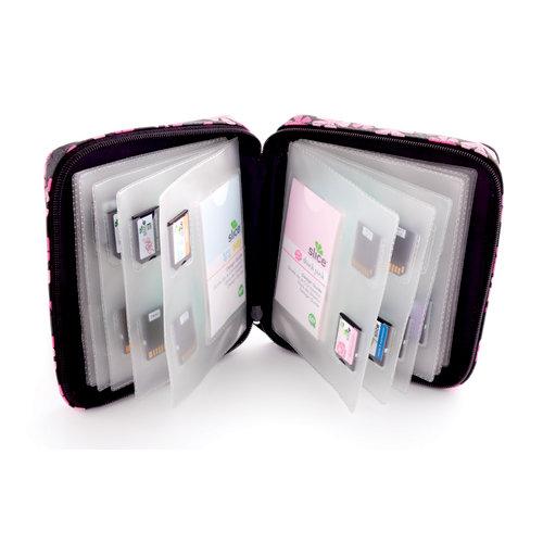 Making Memories - Slice Design Card Storage Case - Pink