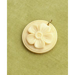 Making Memories - Vintage Groove Collection - Jewelry Pendant - Raised Flower