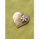 Making Memories - Vintage Groove Collection - Jewelry Pendant - MOP Heart