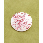 Making Memories - Vintage Groove Collection - Jewelry Pendant - Printed Shell